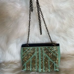 Studded Chain Strap Crossbody Cocktail Bag
